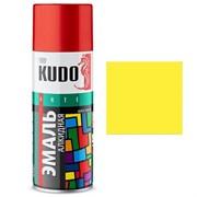 Краска-эмаль аэрозольная KU-1013 универсальная, алкидная, глянцевая, желтая, 520мл
