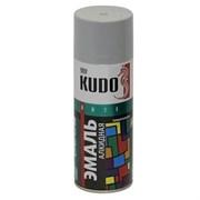 Краска-эмаль аэрозольная KU-1017 универсальная, алкидная, глянцевая, светло-серая, 520мл