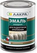 Эмаль Лакра для радиаторов отопления, водостойкая, полуматовая, белая, 0.9кг