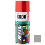 Краска-эмаль аэрозольная KU-1018 универсальная, алкидная, глянцевая, серая, 520мл