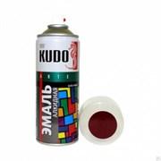 Краска-эмаль аэрозольная KU-10045 универсальная, алкидная, глянцевая, бордо, 520мл