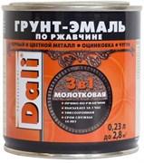 Грунт-эмаль по ржавчине 3в1 молотковая DALI, алкидная, полуматовая, 0.23кг, коричневая