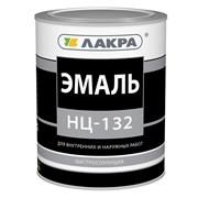 Эмаль НЦ-132 ЛАКРА для внутренних и наружных работ, красная, 0.7кг