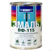Эмаль ПФ-115 PROREMONTT, универсальная, алкидная, глянцевая, зеленый, 0.9кг