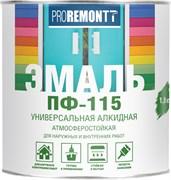 Эмаль ПФ-115 PROREMONTT, универсальная, алкидная, глянцевая, белый, 1.9кг