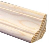 Плинтус напольный хвойных пород 60x12ммx2.2м, стычной, фигурный, 2 cорт