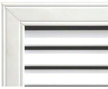 Решетка радиаторная ПВХ 600x1200мм, врезная, белая