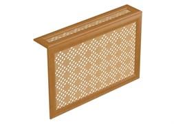 Экран навесной декоративный для радиатора Экраныч ХДФ с МДФ Г-образный, 600x1200x180мм, перфорация Рондо, цвет бук