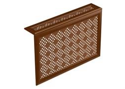 Экран навесной декоративный  для радиатора Экраныч ХДФ с МДФ Г-образный, 600x1200x180мм, перфорация Рондо, цвет орех