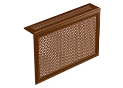 Экран навесной декоративный для радиатора Экраныч ХДФ с МДФ Г-образный, 600x900x180мм, перфорация Верон, цвет орех