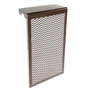 Экран-отражатель навесной декоративный, 600x280x140мм, 3 секции, металлический, коричневый