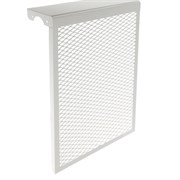 Экран-отражатель навесной декоративный, 600x380x140мм, 4 секции, металлический, белый