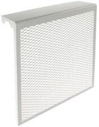 Экран-отражатель навесной декоративный, 600x580x140мм, 6 секций, металлический, белый