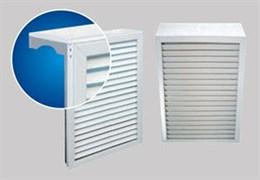 Экран навесной декоративный для радиатора, 620x380мм, 4 секции, каркас металл, решетка ПВХ, белый