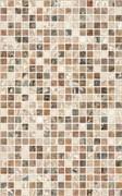 Плитка настенная керамическая облицовочная Нео Мозаика 122863, 25x40мм, глянцевая, коричневая