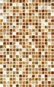Плитка настенная керамическая облицовочная Мармара Мозаика 123861, 25x40мм, глянцевая, объемная, коричневая
