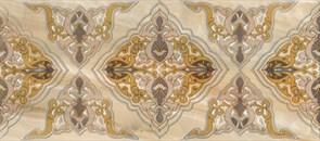 Плитка настенная керамическая декоративная облицовочная Декор Антарес 3/Antares 3 334463, 20x45см, глянцевая, бежевая с вензелем