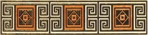 Бордюр Мармара 2 273862 6x25см, для плитки настенной керамической облицовочной, глянцевый, золотой с орнаментом