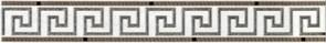 Бордюр Шампань 1/Champan 1 264861 6x45см, для плитки настенной керамической облицовочной, матовый, бежевый с орнаментом