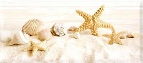 Плитка настенная керамическая декоративная облицовочная Декор Легенда ракушка мелкая 336761, 20x45см, глянцевая