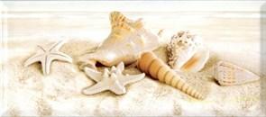 Плитка настенная керамическая декоративная облицовочная Декор Легенда ракушка средняя 336762, 20x45см, глянцевая
