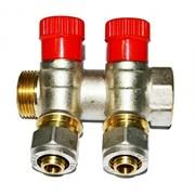 Коллектор Vieir c регулируемыми вентилями и цангами, 20мм (3/4 дюйма)х16мм, 2 выхода