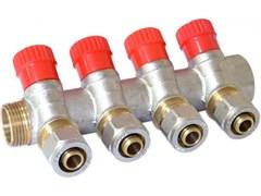Коллектор Vieir c регулируемыми вентилями и цангами, 20мм (3/4 дюйма)х16мм, 4 выхода
