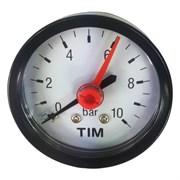 Манометр аксиальный Tim, 10 бар, резьба 13.5мм (1.4 дюйма)