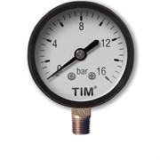 Манометр радиальный Tim, 16 бар, резьба 13.5мм (1.4 дюйма)
