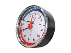 Термоманометр радиальный Tim, 4 бара, для измерения температуры и давления теплоносителя отопительных систем и котлов