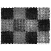 Коврик-травка входной грязезащитный 420x560мм, пластиковый, черно-серый