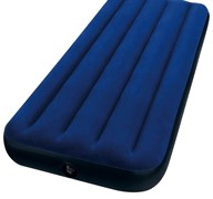 Кровать надувная (матрац) Classic Downy Intex 68950, 220x760x1930мм, 1-местная, винил, максимальная нагрузка 136кг, синий