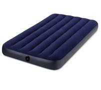 Кровать надувная (матрац) Classic Downy Intex, 220x990x1910мм, 1.5-местная, ПВХ, максимальная нагрузка 136кг, синий