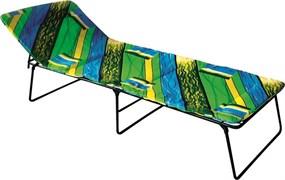 Кровать раскладная кемпинг (раскладушка) Надин С408, 330x730x1950мм, металлическая на тканевой основе, с матрацем, максимальная нагрузка 120кг