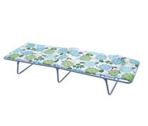 Кровать раскладная (раскладушка) Спарта-М, 240x650x1920мм, металлическая на тканевой основе, с несъемным матрацем, максимальная нагрузка 90кг