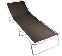 Кровать раскладная (раскладушка) Дрема-4, 330x700x1900мм, металлическая на тканевой основе, жесткая усиленная, без матраца, максимальная нагрузка 100кг