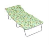 Кровать раскладная (раскладушка) Соня-М1, 260x650x1500мм, металлическая на тканевой основе, с матрацем, максимальная нагрузка 60кг
