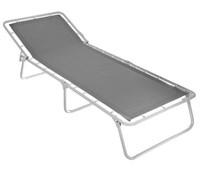 Кровать раскладная кемпинг (раскладушка) Дрема-2, 260x700x1900мм, металлическая на тканевой основе, жесткая, без матраца, максимальная нагрузка 80кг