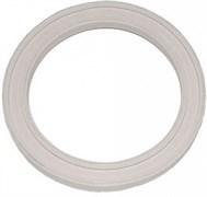 Прокладка уплотнительная для импортного смывного бачка 112х85х13мм, круглая, белая, резиновый полимер