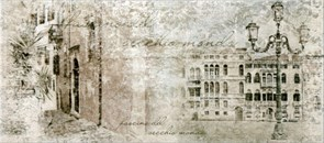 Плитка настенная керамическая облицовочная Граффито Город Сити 137672, 20x45мм, матовая, серая с рисунком