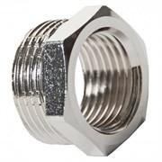 Фитинг резьбой - футорка VIEIR BXX54 переходный для трубы 1M-3/4F, наружный-внутренний, латунный хромированный