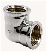 Фитинг резьбовой - угольник VIEIR LFX44 3/4F-3/4F, внутренний-внутренний, латунный хромированный