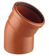 Отвод канализационный 110мм 30 градусов, наружный, полипропиленовый, оранжевый