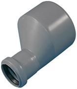 Патрубок переходный эксцентрический, диаметр 110x50мм, для внутренней канализации, полипропиленовый, длинный, серый