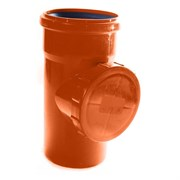 Ревизия (тройник) 160мм, для наружной канализации, полипропиленовая, оранжевая