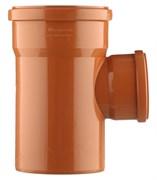 Тройник 110x50мм 87 градусов, для наружной канализации, полипропиленовый, оранжевый