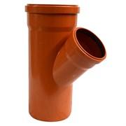 Тройник 160x110мм 45 градусов, для наружной канализации, полипропиленовый, оранжевый