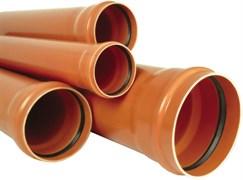 Труба канализационная 160x4.9x1000мм, наружная, полипропиленовая, оранжевая