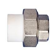 Муфта разъемная PPRC с ВР 32x15мм (1/2 дюйма), комбинированная, полипропиленовая, с внутренней резьбой