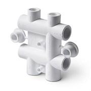 Распределительный блок для систем водоснабжения 25-20мм, полипропиленовый, белый